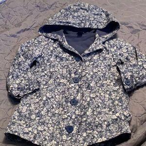 EUC Baby Gap Flowered Raincoat Size 4T